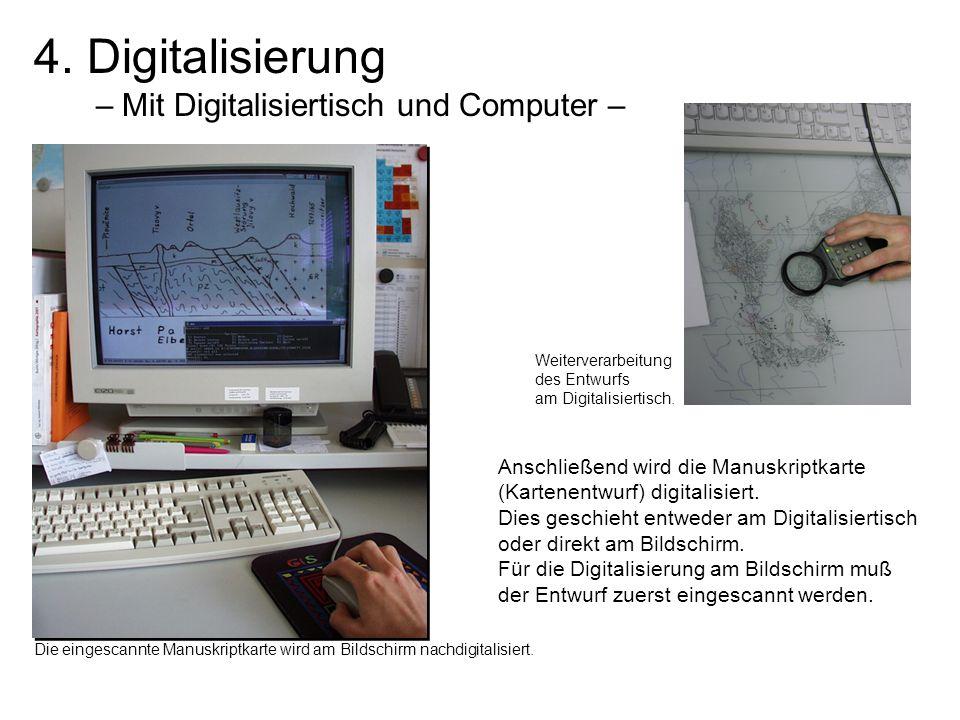 4. Digitalisierung – Mit Digitalisiertisch und Computer –