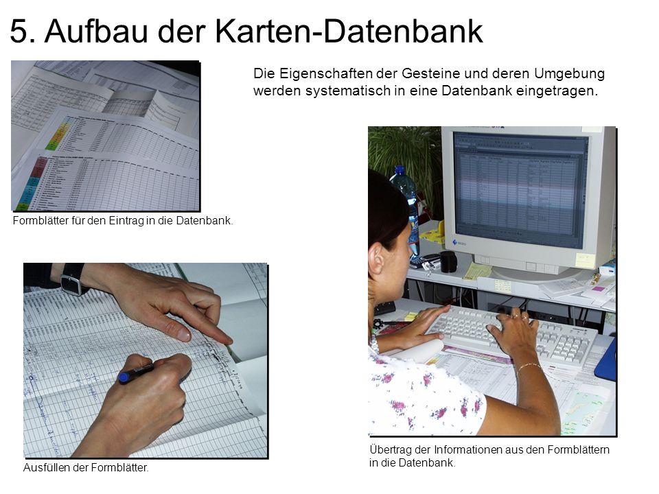 5. Aufbau der Karten-Datenbank