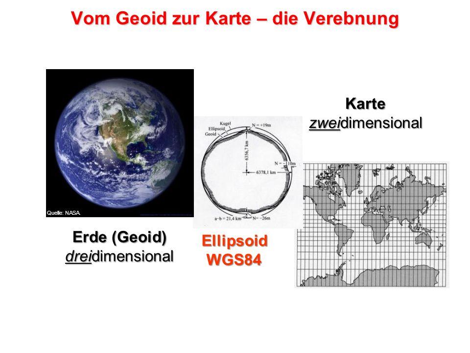 Vom Geoid zur Karte – die Verebnung