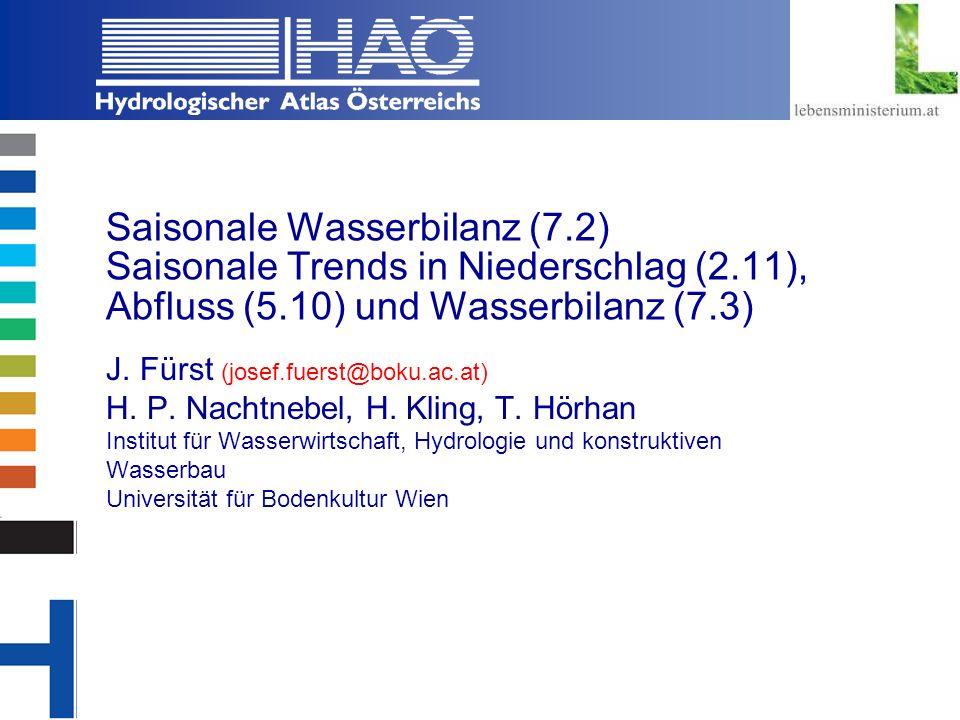 Saisonale Wasserbilanz (7. 2) Saisonale Trends in Niederschlag (2