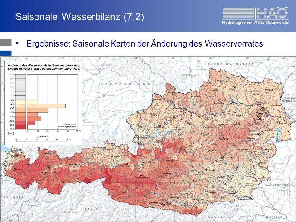 Saisonale Wasserbilanz (7.2)