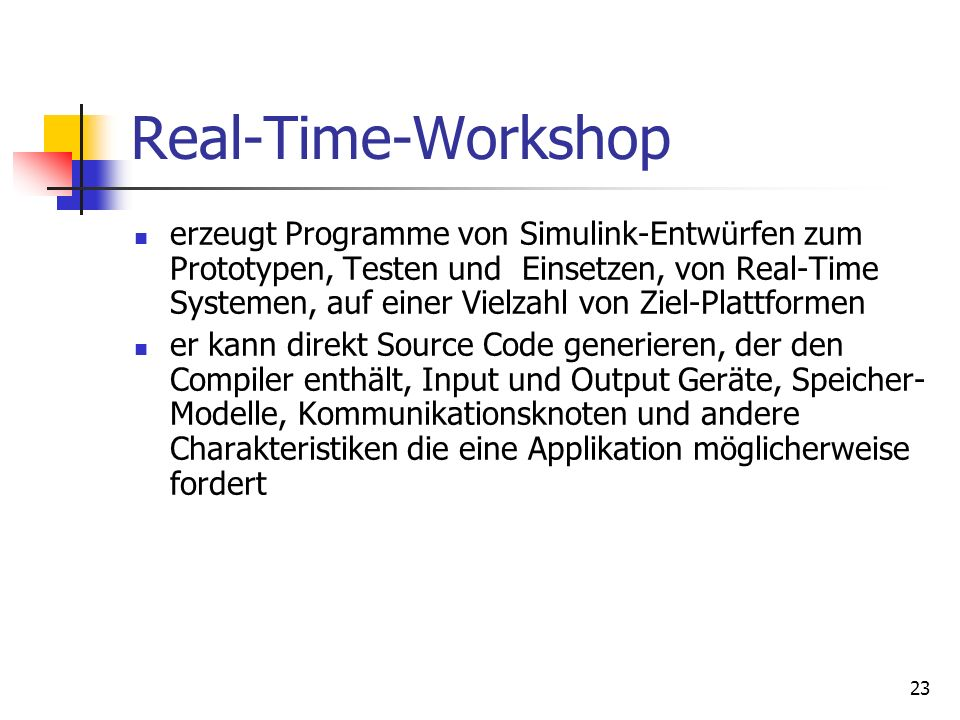 Real-Time-Workshop