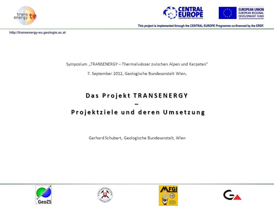 Das Projekt TRANSENERGY – Projektziele und deren Umsetzung