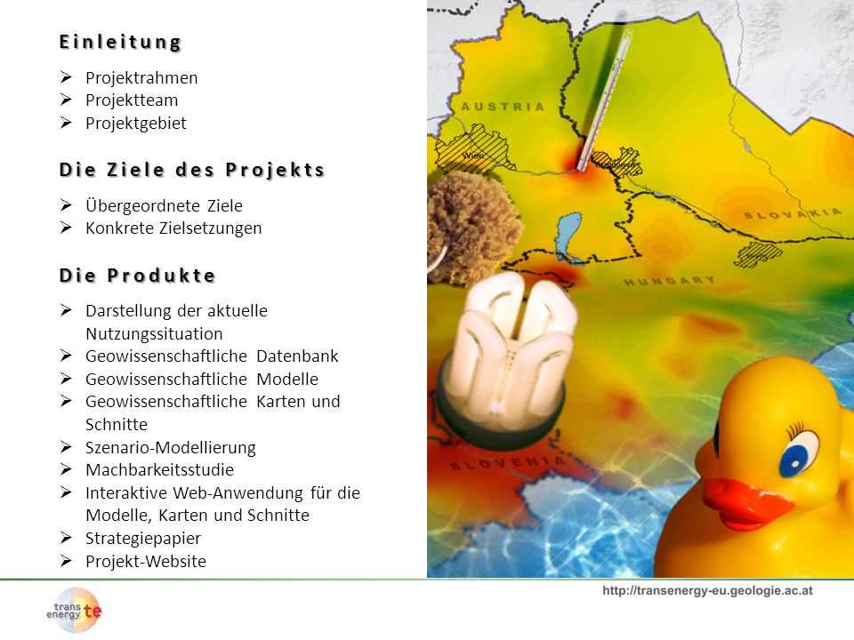 Einleitung Die Ziele des Projekts Die Produkte Projektrahmen