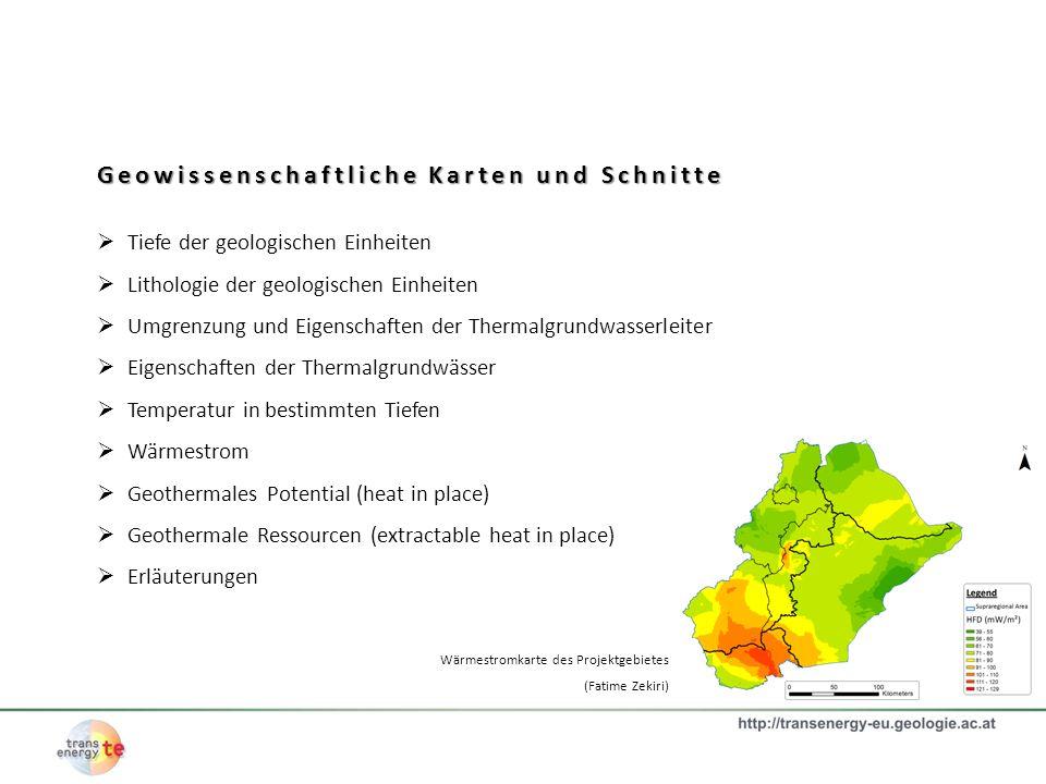 Geowissenschaftliche Karten und Schnitte
