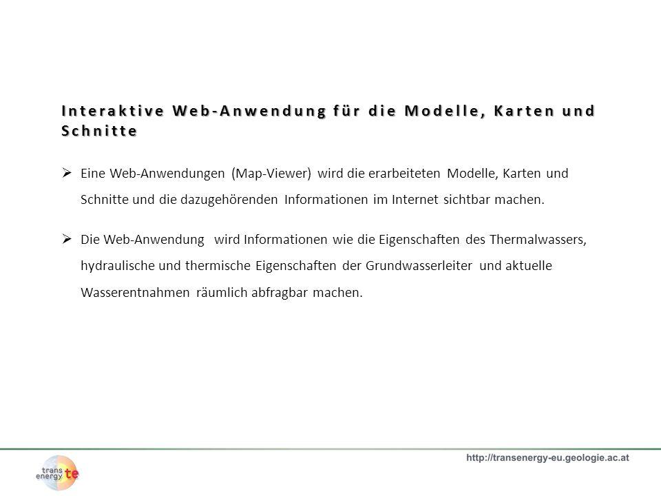 Interaktive Web-Anwendung für die Modelle, Karten und Schnitte