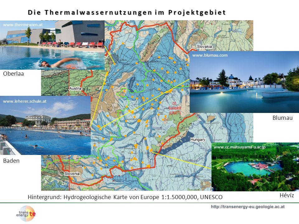 Die Thermalwassernutzungen im Projektgebiet