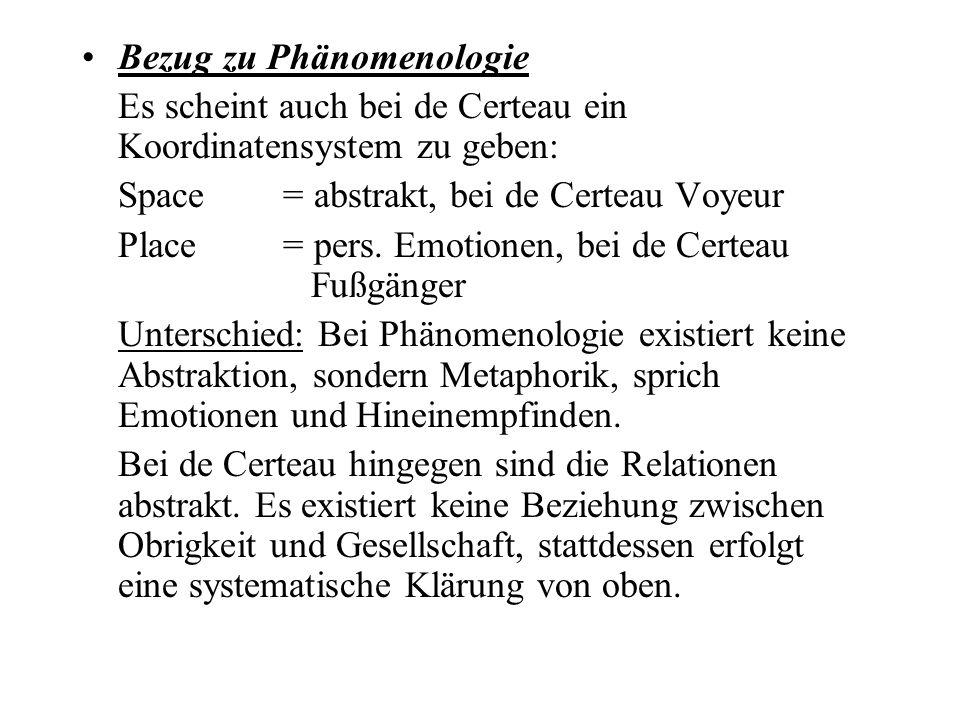Bezug zu Phänomenologie