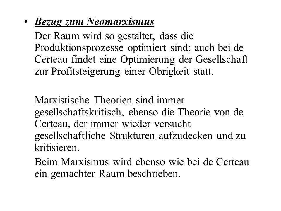 Bezug zum Neomarxismus