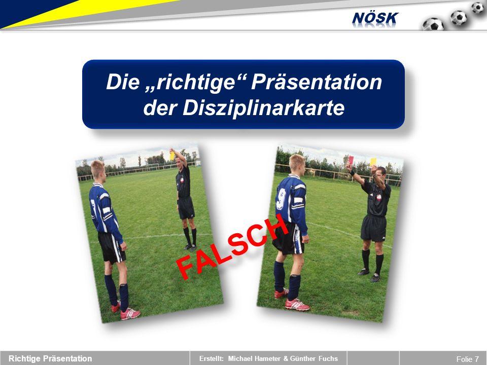 """Die """"richtige Präsentation der Disziplinarkarte"""