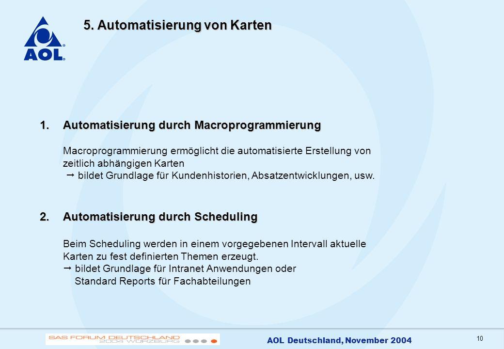 5. Automatisierung von Karten