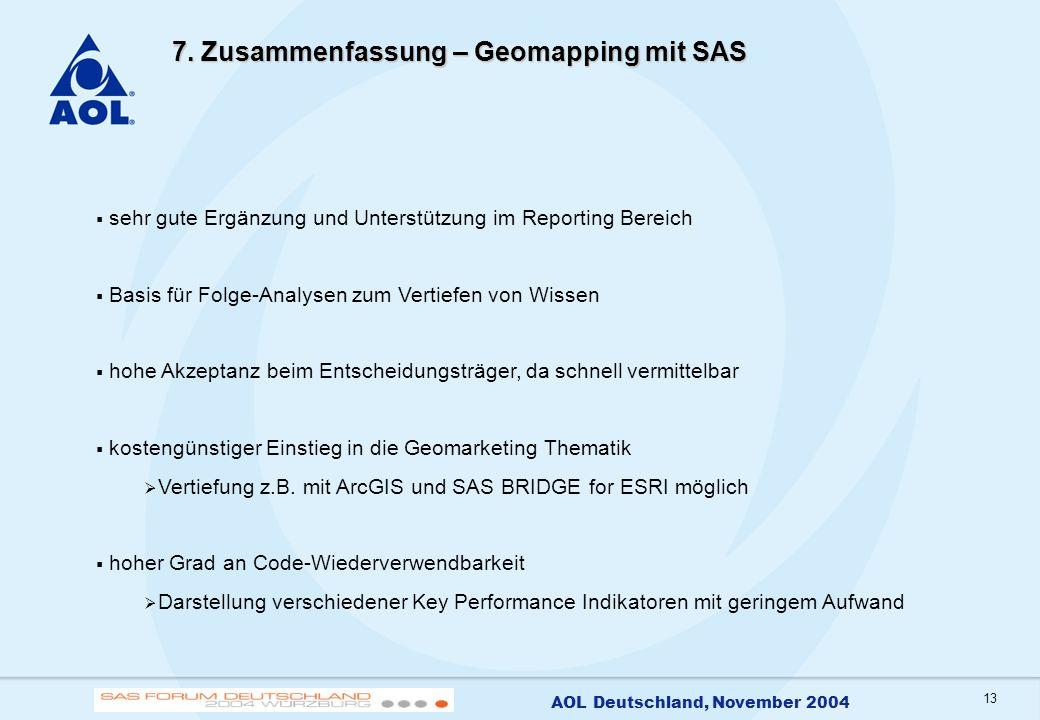 7. Zusammenfassung – Geomapping mit SAS
