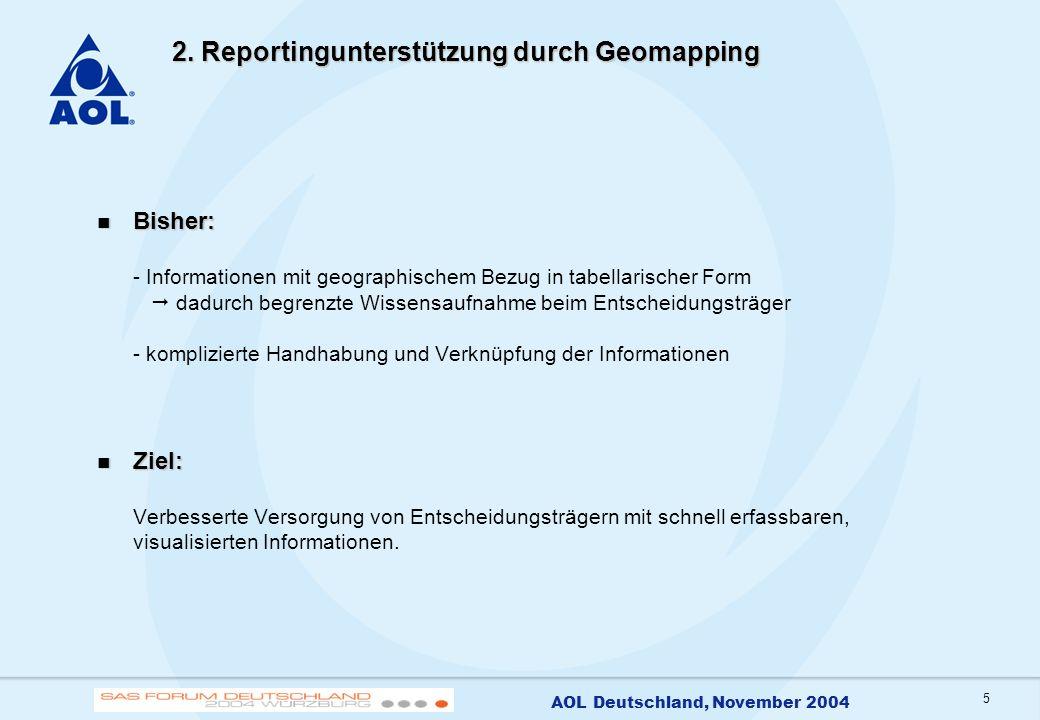 2. Reportingunterstützung durch Geomapping