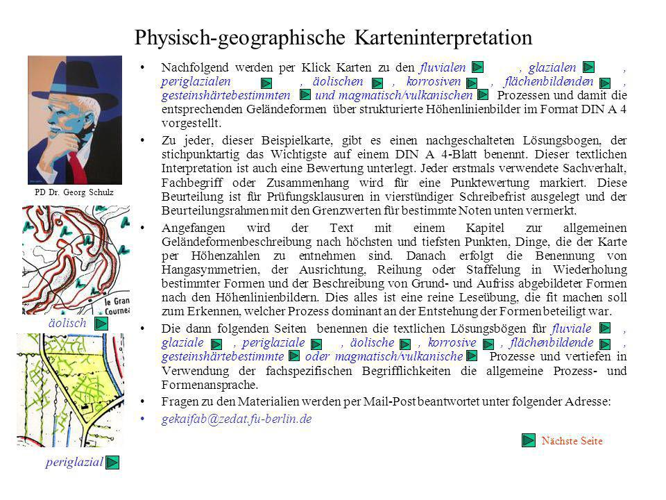Physisch-geographische Karteninterpretation