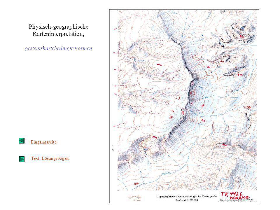 Physisch-geographische Karteninterpretation,
