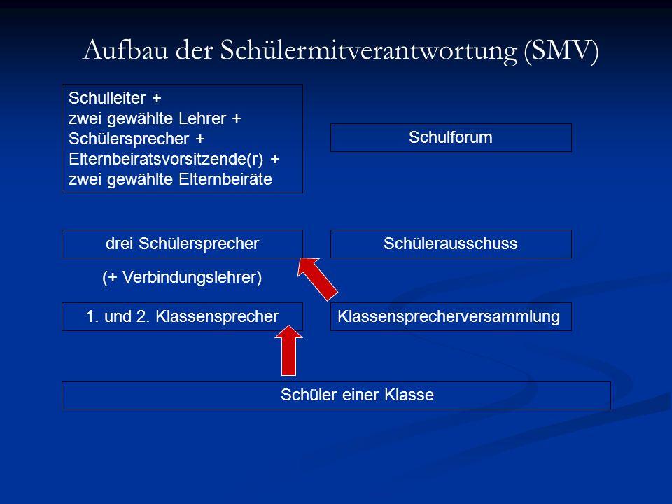 Aufbau der Schülermitverantwortung (SMV)