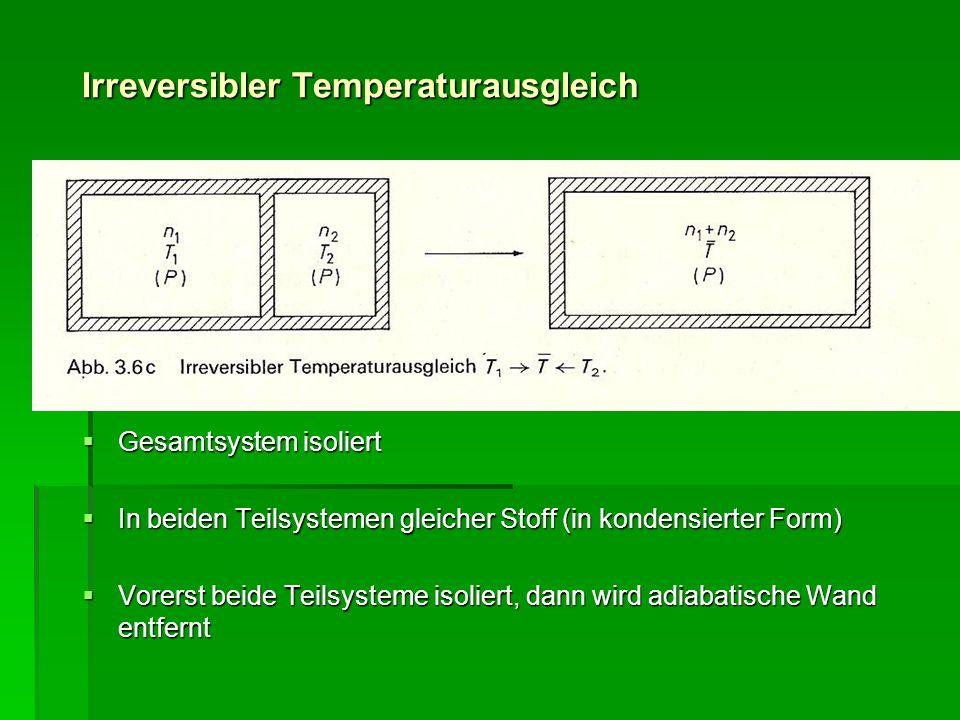 Irreversibler Temperaturausgleich