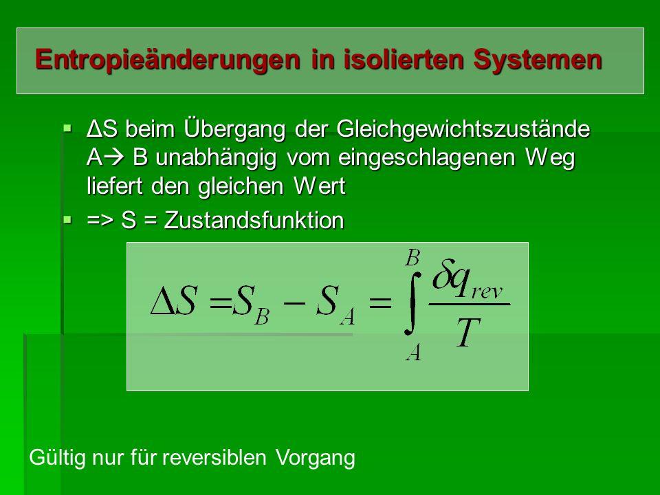 Entropieänderungen in isolierten Systemen