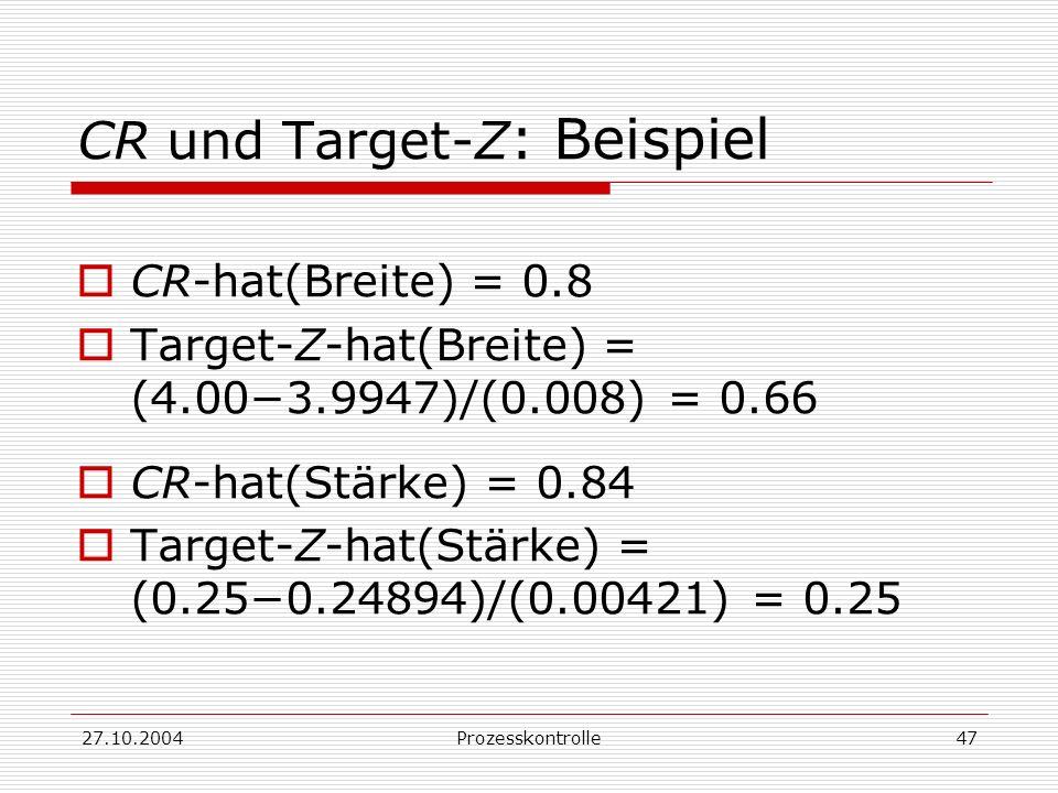 CR und Target-Z: Beispiel