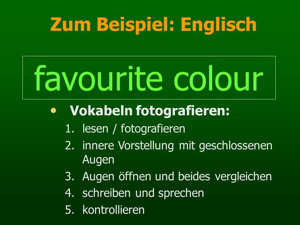 Zum Beispiel: Englisch