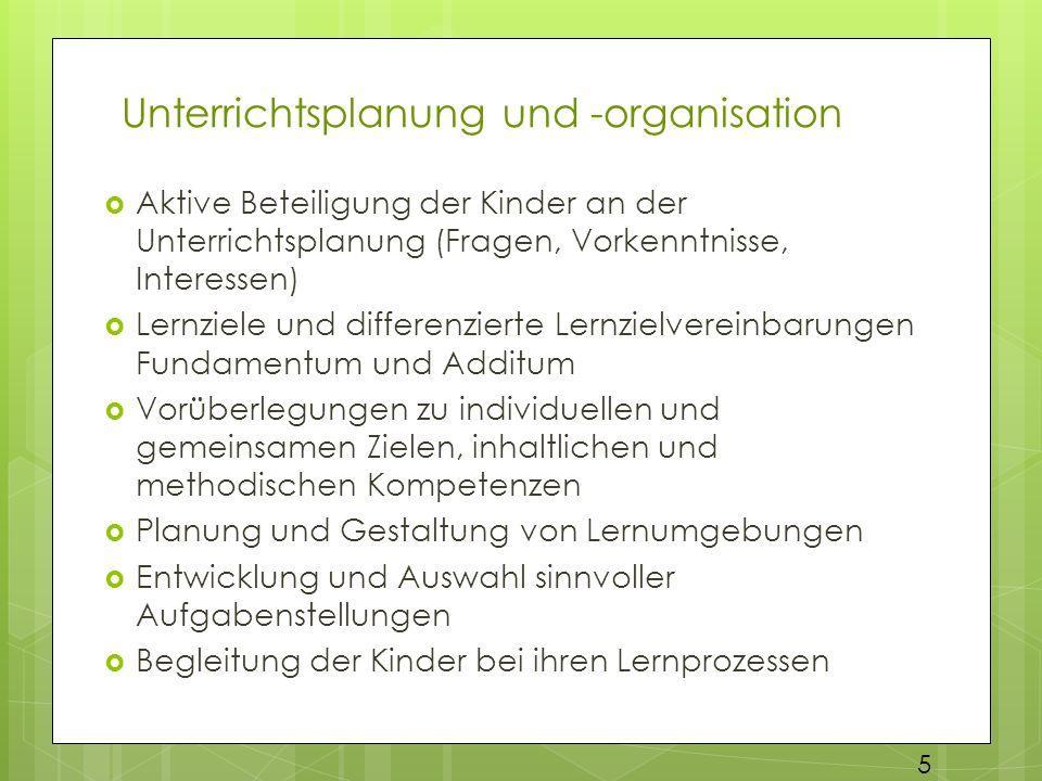 Unterrichtsplanung und -organisation