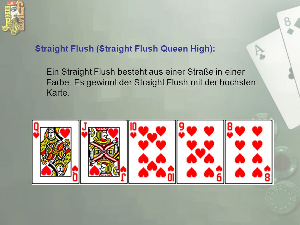 Straight Flush (Straight Flush Queen High):