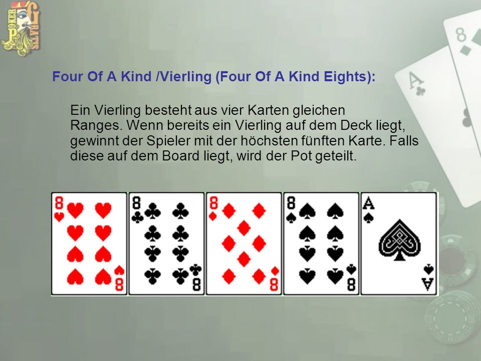 Four Of A Kind /Vierling (Four Of A Kind Eights):