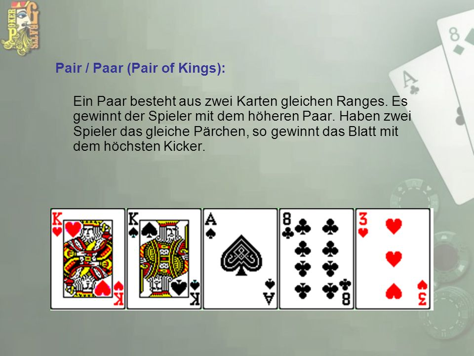 Pair / Paar (Pair of Kings):