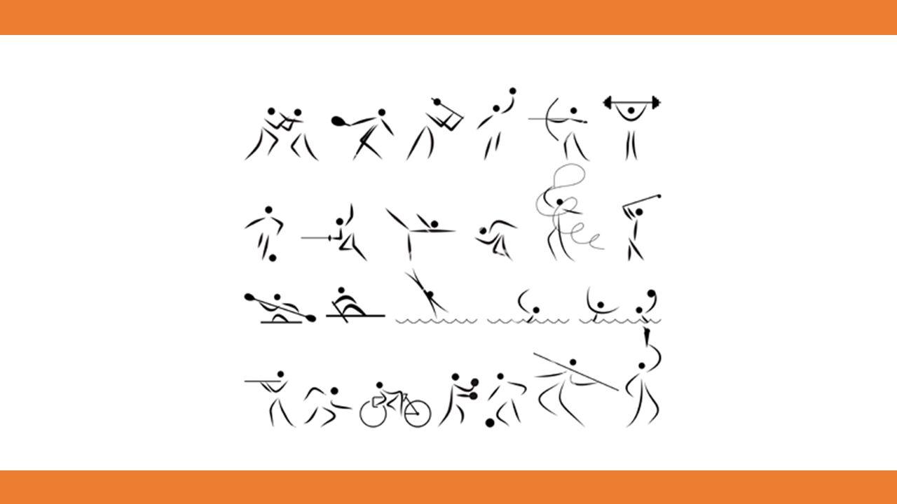 wurde ein Bildzeichensystem zur Kennzeichnung von Sportarten entworfen.