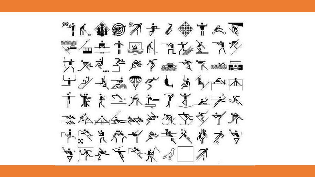 Otl Aicher, der Gestaltungsbeauftragte der Olympischen Sommerspiele 1972 von München, reduzierte diese bis dahin noch sehr figurativen Piktogramme weiter.