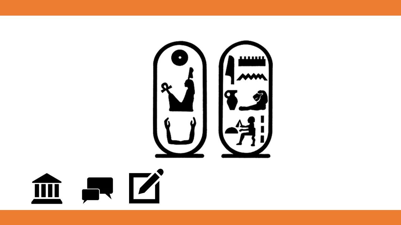 und die älteste geschriebene Form von antiker ägyptischer Sprache ist