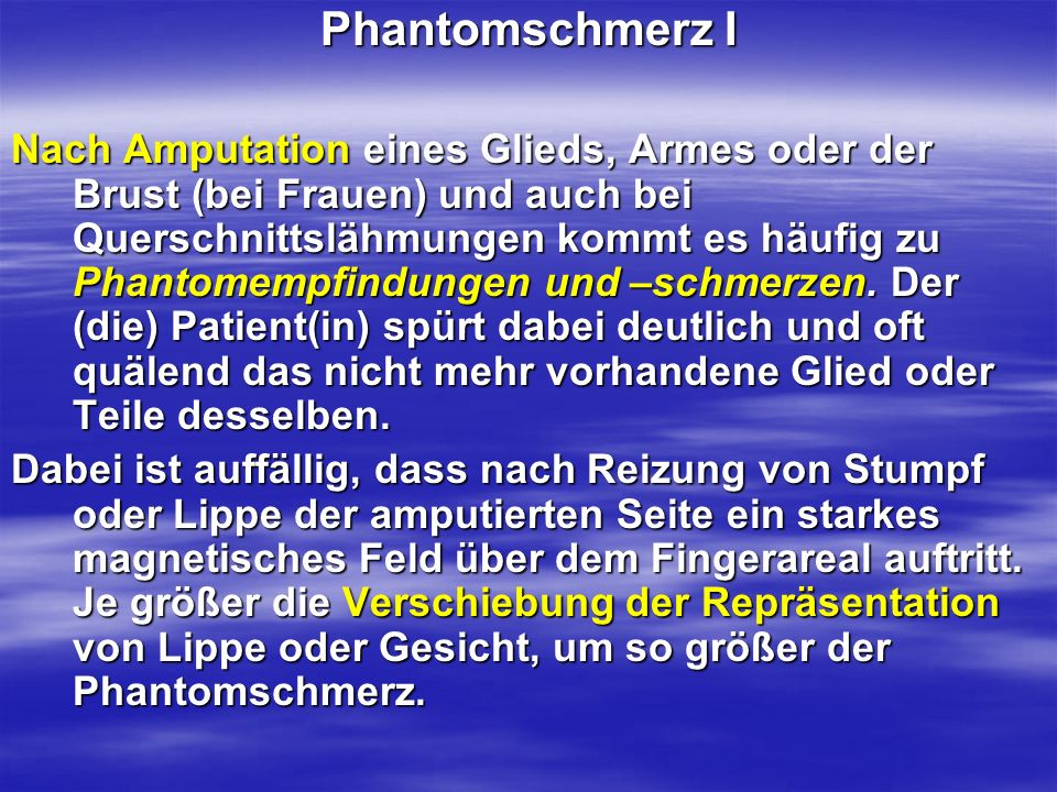 Phantomschmerz I
