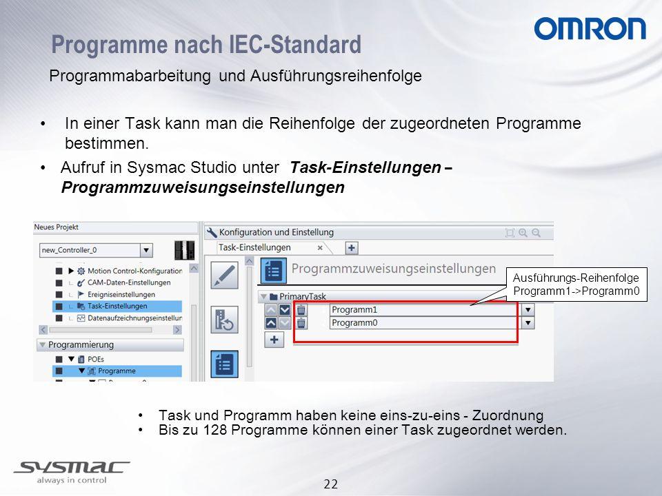 Programme nach IEC-Standard