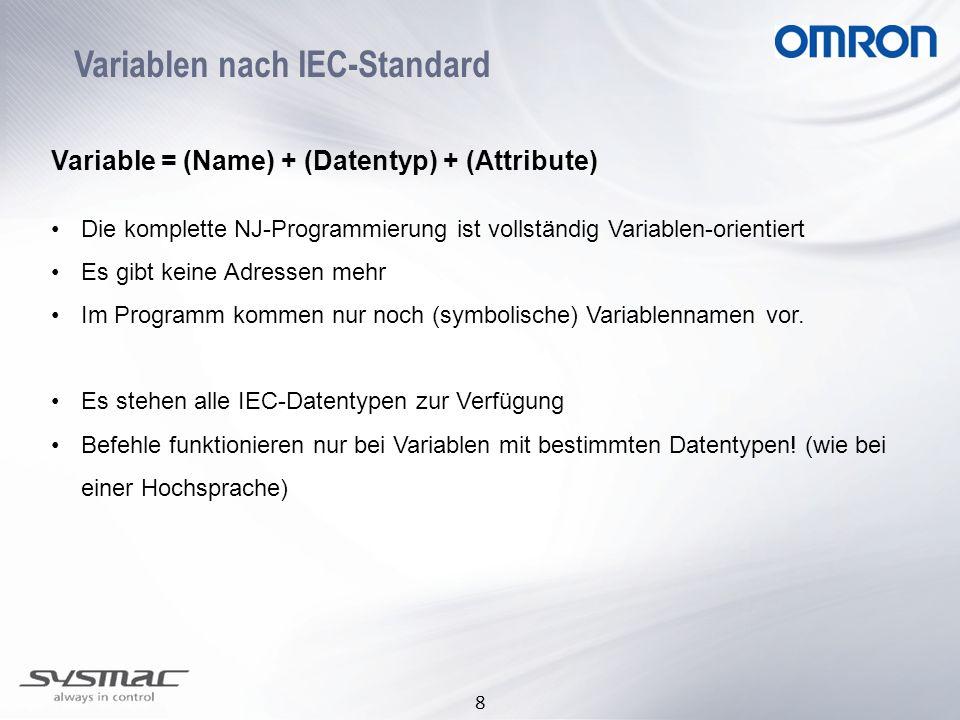 Variablen nach IEC-Standard