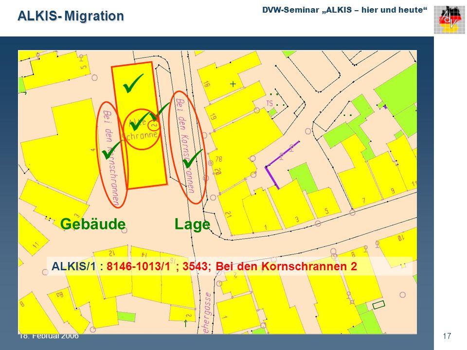   Gebäude Lage ALKIS- Migration