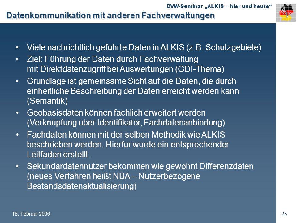 Datenkommunikation mit anderen Fachverwaltungen