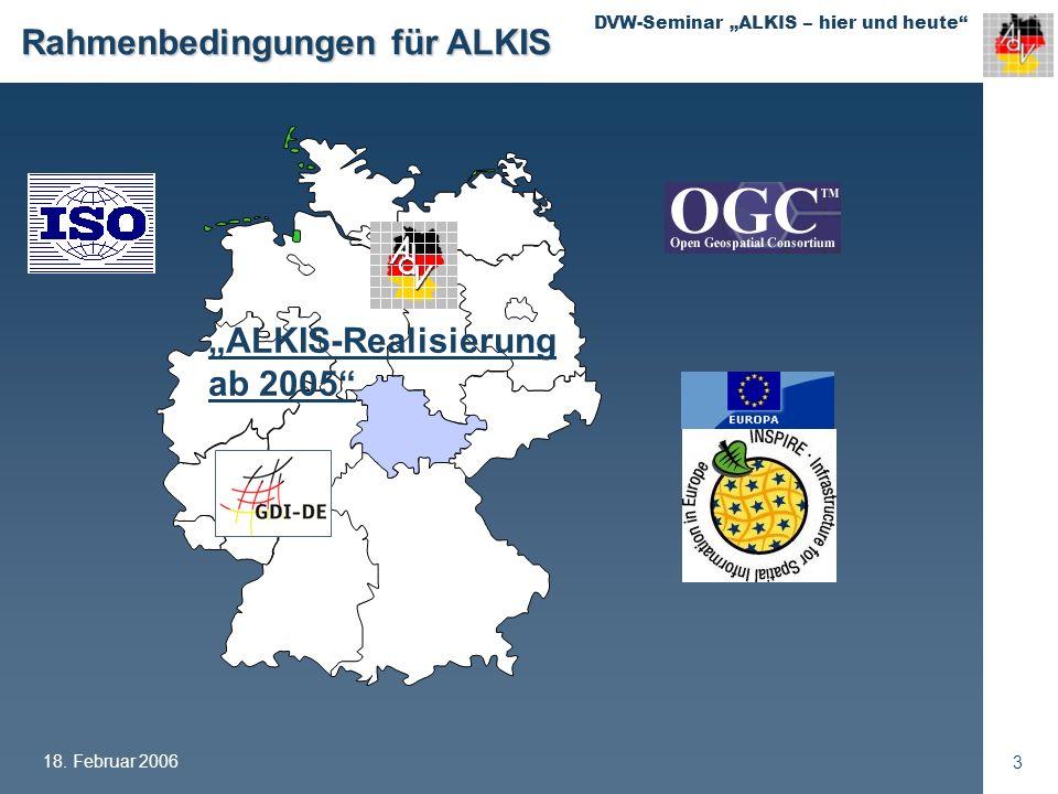 Rahmenbedingungen für ALKIS