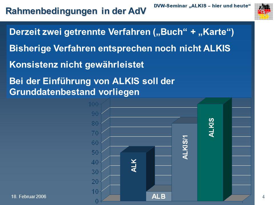 Rahmenbedingungen in der AdV