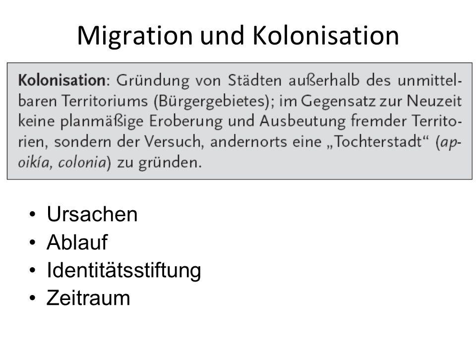 Migration und Kolonisation