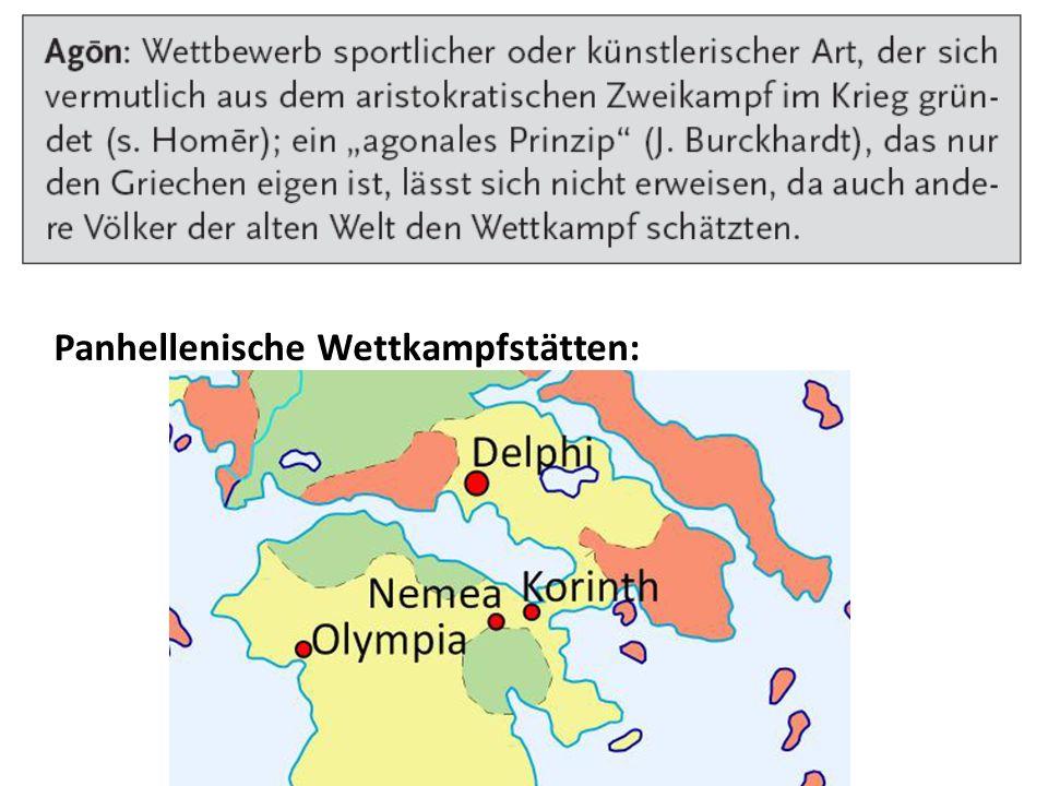 Panhellenische Wettkampfstätten: