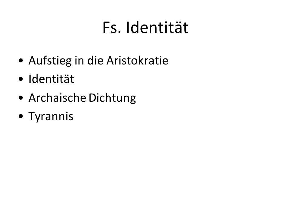 Fs. Identität Aufstieg in die Aristokratie Identität