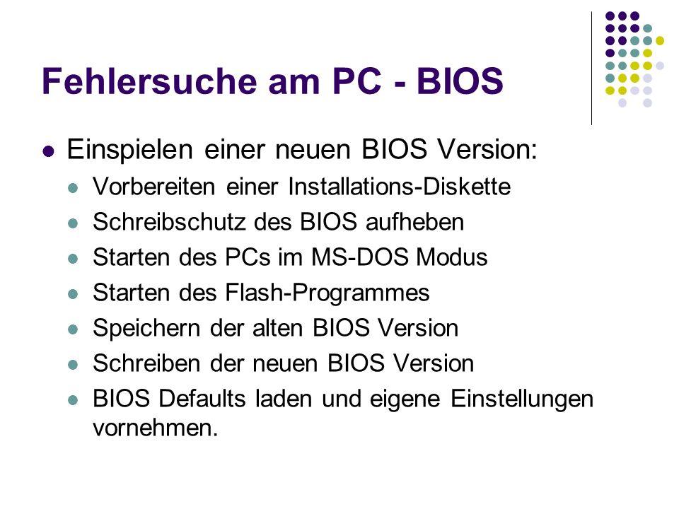 Fehlersuche am PC - BIOS