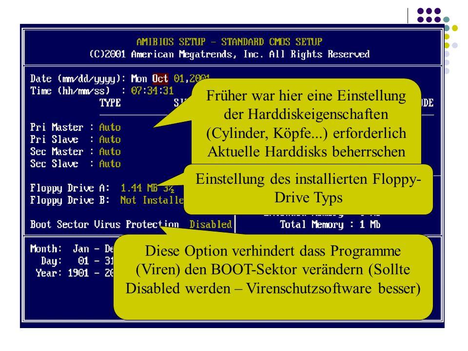 Aktuelle Harddisks beherrschen Automatische Konfiguration (Zeit)
