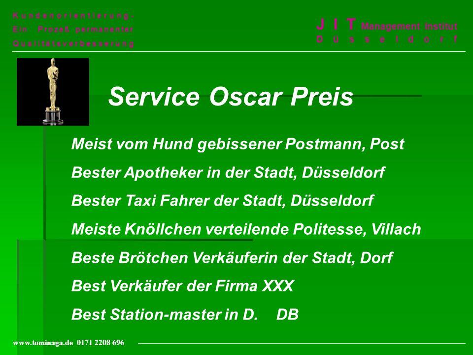 Service Oscar Preis J I T Management Institut Düsseldorf