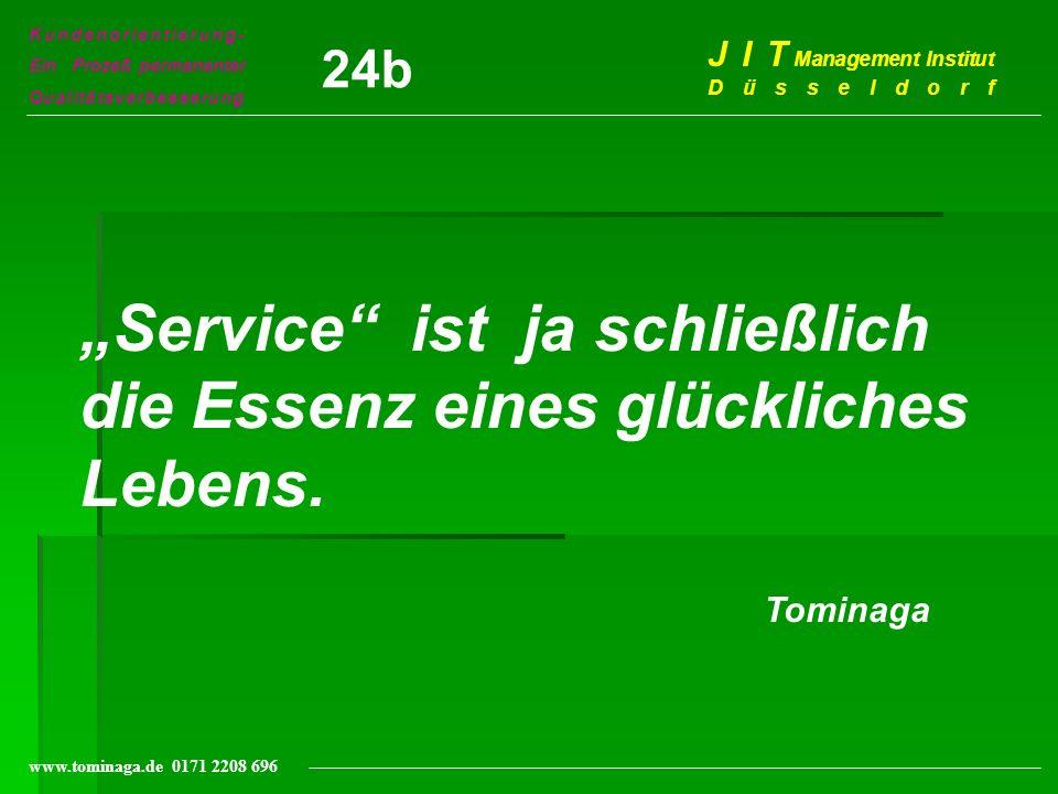 """""""Service ist ja schließlich die Essenz eines glückliches Lebens."""
