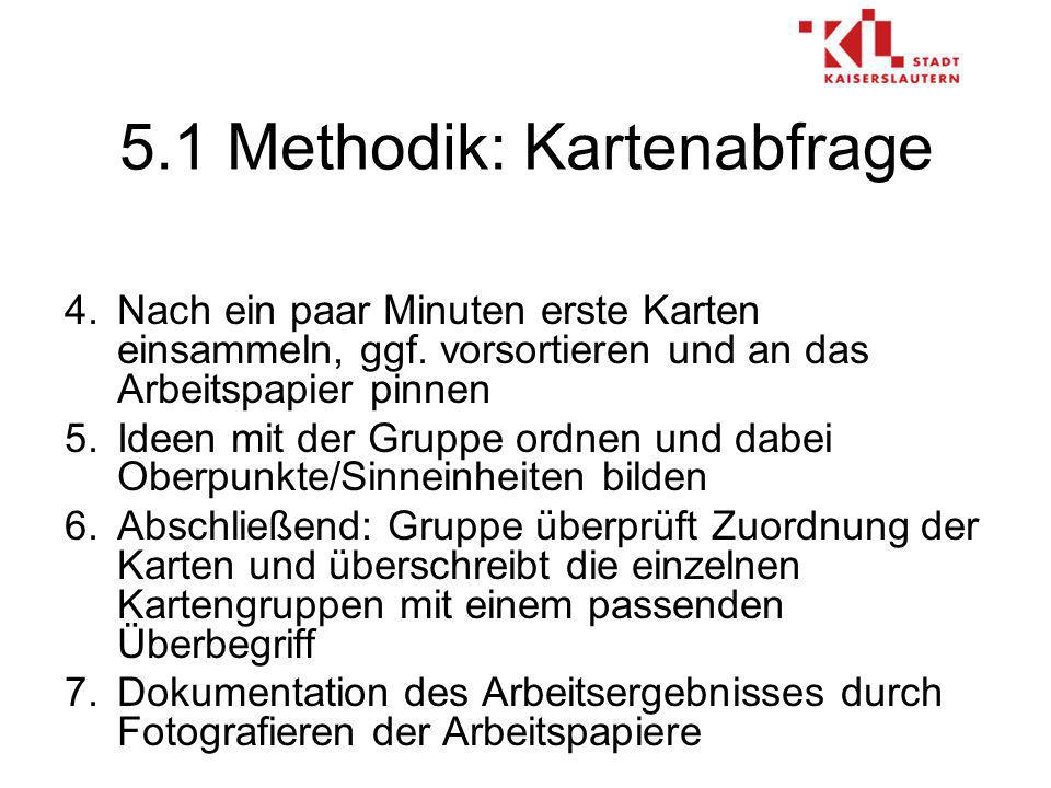 5.1 Methodik: Kartenabfrage