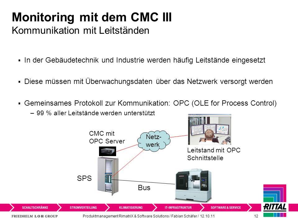 Monitoring mit dem CMC III Kommunikation mit Leitständen