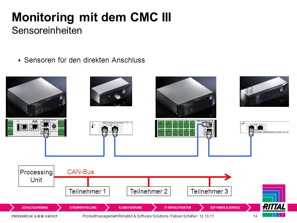 Monitoring mit dem CMC III Sensoreinheiten
