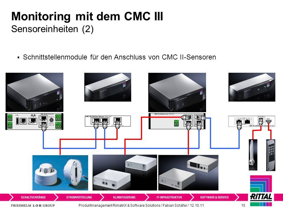 Monitoring mit dem CMC III Sensoreinheiten (2)