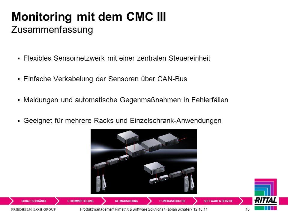 Monitoring mit dem CMC III Zusammenfassung